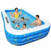 Inflatable Swimming Pool For Kids Inflatable Pool For Adults Full Sized 120 X 7