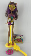 Monster High Gloom Beach Clawdeen Wolf Doll Complete W/ Accessories Euc