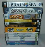 Lot Of 13 Pc Games The Sims Zoo Tycoon 2 Brain Spa Rome Total War