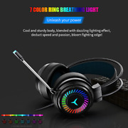 Wireless Headphones With Mic Pc Professional Gaming Headset Usb Wired Headphones