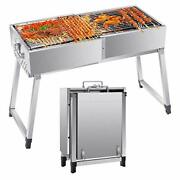 Vogvigo Portable Bbq Grill,stainless Steel Folding Charcoal Bbq Grill, Outdoor