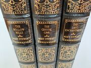 3 Easton Press Mary Stewart Sealed Books Hollow Hills Crystal Cave Enchantment