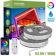 105ft Outdoor Rgb Rope Lights Led Strip Music Sync Garden Decoration Waterproof