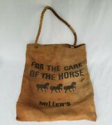 Rare Find Millers Saddlery Nyc Store Bag Antiques Decor 13x18