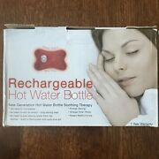 Hot Water Bottle Rechargeable 2-5 Hour Pain Relief New Charges In 15 Min