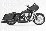 American Outlaw Black Dual Full Exhaust Frp. Hd00287 For 09-16 H-d Flh Flt