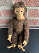 """Schuco Tricky Mohair Monkey Fully Jtd 13"""" Germany, 1950's Very Nice Clean No Id"""