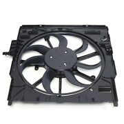 Electric Motor Radiator Engine Cooling Fan Assembly Front For 2007-10 Bmw E70 X5