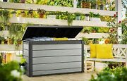200gal Large Deck Box Organization And Storage Patio Furniture Outdoor Cushions