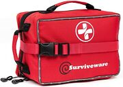 Surviveware Large First Aid Kit And Added Mini For Trucks Car Camping...