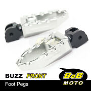 Cnc Buzz Anti-slip Front Touring Foot Pegs For Kawasaki Versys Kle 650 06-14 13