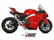 Mivv High Complete Exhaust Mk3 Carbonandnbspducati Panigale V4 2018-2021