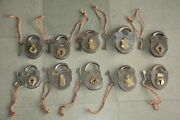 10 Pc Old Iron Fine Handcrafted Solid Heavy Padlocks