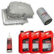 Ppe Raw Oil Pan With Motorcraft 15w-40 Oil/filter For 11-21 6.7l Powerstroke