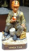 Vintage - Commonwealth Whiskey Decanter - Miner At Lunch Time - Nice Color