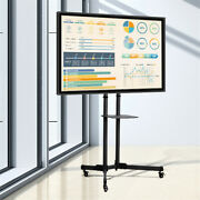 Height Adjustable Mobile Tv Cart With Wheels For 23-70 Inch Lcd Led Oled Plasma