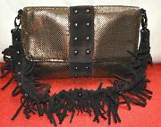 Auth Very Cool Classic Whiting And Davis Mesh Fringe Shoulder/clutch Bag.