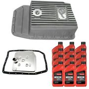 6r80 Motorcraft Transmission Service Kit And Afe Raw Deep Pan For 09-17 Ford F-150