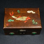 Chinese Antique Vintage Rosewood Handmade Wooden Jewelry Box Organizers Box 1031
