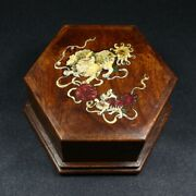 Chinese Antique Vintage Rosewood Handmade Wooden Jewelry Box Organizers Box 5030