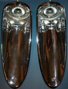 Nos 1956 1957 Corvette Tail Lights Lamps Gm 5947403 Guide Ria-56 Made In Usa