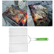 Stainless Steel Barbecue Fish Grilling Basket Vegetables Chicken Grill Net