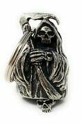 Grim Reaper Motorcycle Biker Bell Accessory Or Key Chain For Luck