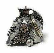 Gladiator Motorcycle Biker Bell Accessory Or Key Chain For Luck