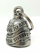 Motorcycle Live To Ride Biker Bell Accessory Or Key Chain For Luck