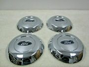 Ford Expedition / F-150 Oem 17 Chrome Steel Wheel Center Cap Set 61-10