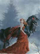 Nene Thomas Echoes Autumn Limited Edition Signed Fairy Print Horse Red Wings New