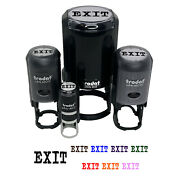 Exit Fun Text Self-inking Rubber Stamp Ink Stamper