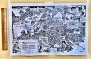 Map Panama Canal Ww2 1940 Published By Us Army Caribbean 20x13andrdquo Military Ships