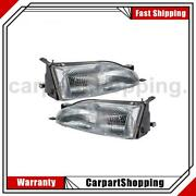 2 Tyc Headlight Assembly Left Right For Toyota 1995-1996