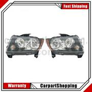 2 Tyc Headlight Assembly Left Right For Compass Jeep