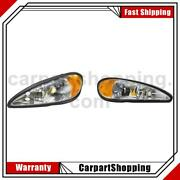 2 Tyc Headlight Assembly Left Right For Pontiac Grand Am
