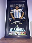 Diego Maradona Collectible Signed Soccer Boot With Authenticity Certificate