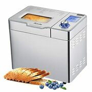 2lb Automatic Bread Machine With 25 In 1 Program Stainless Steel Design