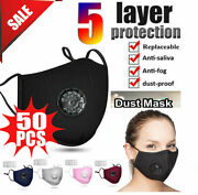 100pcs Anti-smog Activated Carbon Cycling Sunscreen Mask Respirator Lot W E R 01