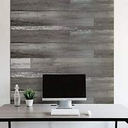Vinyl Wall Panel With Vintage Farmhouse Wood Pattern, Easy Peel And Adhere Apply