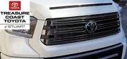 New Oem Toyota Tundra 18-21 Nightshade Grille And Hood Bulge White 040 And Emblem