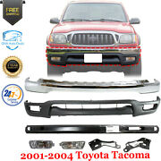 Front Bumper Kit With Fog Lights + Brackets And Reinfo For 2001-2004 Toyota Tacoma