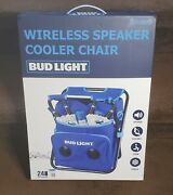 Bud Light 24-can Insulated Cooler Chair With Bluetooth Stereo Speaker