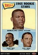 1965 Topps 537 Mercelino Lopez / Rudy May / Phil Roof - Angels Rookie 7.5 - Nm+