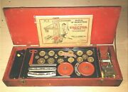 Vtg 1929 Ac Gilbert Erector Set 6 Complete With Manual Red Wooden Box
