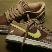 Nike Mens Us Size Undefeated × Nike Dunk Low Sp Canteen/lemon Frost Dh3061-200