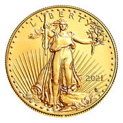 1 Oz 2021 American Eagle Type 2 Gold Coin