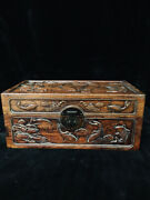 Chinese Antique Vintage Rosewood Handmade Wooden Jewelry Box Organizers Box 2043