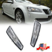 2x Clear Front Bumper Side Markers Light Housing For 2008 2009 Pontiac G8 Gt Gxp