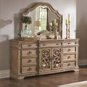 Wooden Dresser With Traditional Design Brown Brown 7-drawer